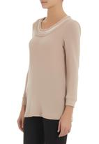 AMANDA LAIRD CHERRY - Procida top Neutral