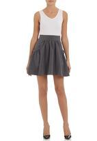 adam&eve; - Fit and flare mini skirt   Grey (dark grey)