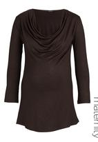 Astrid Ray - Cowl-neck knit tunic  Gold