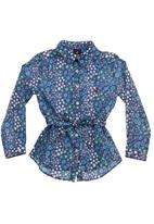 POLO - Floral belted shirt Multi-colour