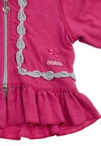 Eco Punk - Baby jersey with zip Pink