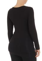 Cherry Melon - Long-sleeve top with front gauge detail  Black