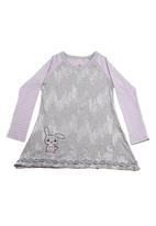 Eco Punk - Tunic with sequins and stripes Grey