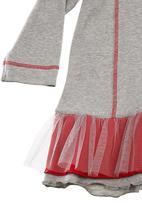Just chillin - Hooded tutu dress Grey