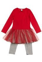 Just chillin - Tutu dress Red