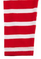 Just chillin - Striped leggings Red