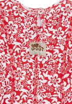 Just chillin - Printed dress Red
