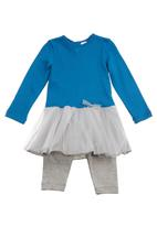 Just chillin - Tutu dress suit Blue
