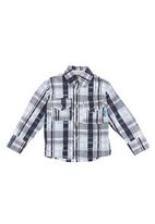 Seven Ounce - Check shirt Blue