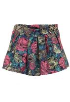 Cheryl Arthur - Rose-printed skorts Multi-colour