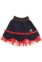 Eco Punk - Denim ballerina skirt Brown