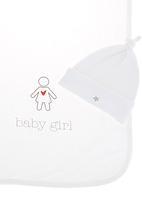 Basic Beings - Girl blanket set White