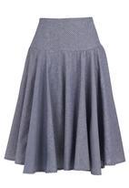 adam&eve; - Polka-dot chambre skirt  Blue (pale blue)