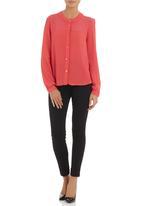 adam&eve; - Crepe shirt  Coral