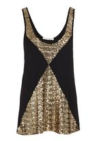 SASS - Spliced sequinned tank Gold