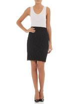 STYLE REPUBLIC - Lace skirt Black