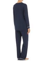 White Mischief - Knit pyjama set Navy
