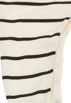 Phoebe & Floyd - Striped babygro Black/White