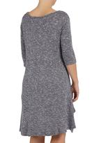 Astrid Ray - Swing dress with pockets Grey