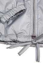 Phoebe & Floyd - Waterproof zip-through hooded jacket Silver