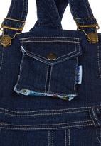 Portchie Gear - Denim dungarees Dark blue black denim