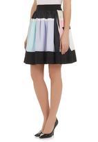 Ilan - Graphic-printed mini skirt Multi-colour