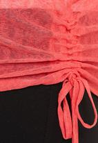 Revenge - Tunic Top with Side Rouching Coral