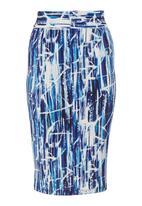 adam&eve; - High-waisted pencil skirt Multi-colour