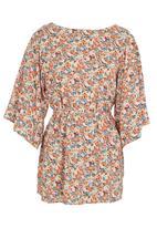 edit - Floral-print kimono tunic Multi-colour
