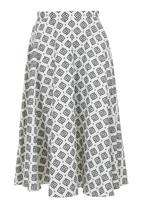 AMANDA LAIRD CHERRY - Midi skirt Black/White
