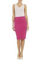 adam&eve; - High-waisted pencil skirt dark Pink