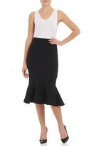 SELFI - Flare pencil skirt Black