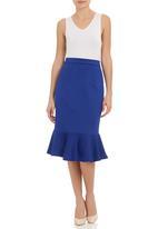 SELFI - Flare pencil skirt Cobalt