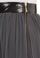 Blackeyed Susan - Mesh maxi skirt Grey