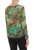 STYLE REPUBLIC - Floral-print chiffon top Multi-colour