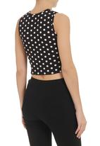 STYLE REPUBLIC - Matching crop top set Black & White