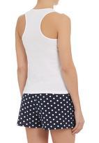 edge - Short sleepwear set Blue/White