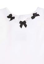 Just chillin - Printed dress with bow detail Black/White