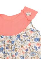 Kate Jordan - Dress With Floral Trim Multi-colour