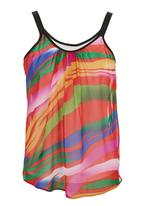 STYLE REPUBLIC - Tiger-print Basic Cami Multi-colour