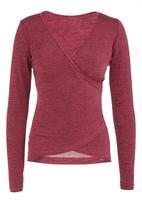 KARMA - Layered Silk Knit Top Dark Pink