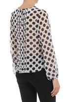 Amanda May - Polka dot blouse Blue/White