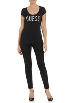 GUESS - 1981 T-shirt  Black