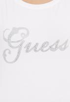 GUESS - Cap-sleeved T-shirt  White