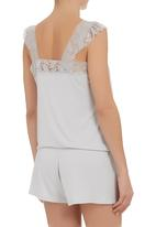 edge - Lace onesie with cap sleeves  Silver