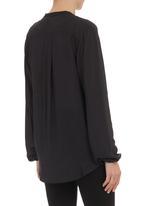 Mishah - Cross-over shirt Black