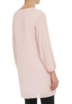 STYLE REPUBLIC - Cotton bell-sleeve dress Coral