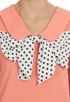 edit - Bow Blouse Coral