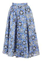 AfroDizzy - African-Print Long Skirt Multi-Colour