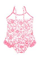 Sun Things - One-piece with floral print mid Pink